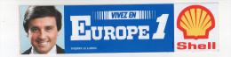 Ref AUTO 4 :   Autocollant Sticker Shell EUROPE 1 Thierry LE LURON - Autocollants