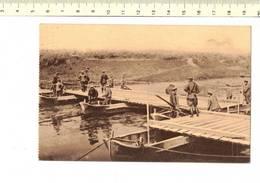 49067 -D5-  - TRANCHEES MISE EN PLACE DE LA TRAVEE MARINIERE D UN PONT DE BATEAU - War 1914-18