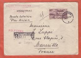 POLOGNE LETTRE RECOMMANDEE DE 1953 DE STALINOGROD POUR MARSEILLE FRANCE - Machine Stamps (ATM)