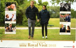 NEW ZEALAND , 2018, MNH, ROYAL VISIT TO NEW ZEALAND, PRINCE HENRY OF WALES AND MEGHAN MARKEL, MILITARY, CULTURES, SLT - Royalties, Royals