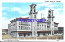 104682 CUBA LA HABANA STATION TRAIN ESTACION DE TREN CENTRAL POSTAL POSTCARD - Cartes Postales