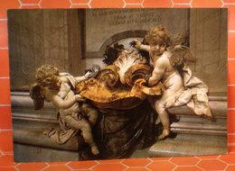 Angeli Acquasantiera Bernini S. Pietro Roma Statua Cartolina - Sculture