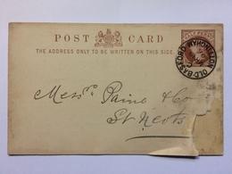 GB - Victoria 1896 Postal Stationary Card Old Basford Nottingham To St. Neots - Babbington Coal Company - 1840-1901 (Victoria)
