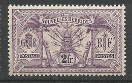 NOUVELLE HEBRIDE N° 47 NEUF* TRACE DE CHARNIERE TB / MH - Légende Française