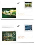 1999  2 Briefkaarten Met Afbeeldingen Van Kunstwerken Uit De Brusselse Metro - Cartes Souvenir