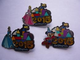 3 Big Pin S DISNEY 2015 Double Moule Neuf 2 Photos - Disney