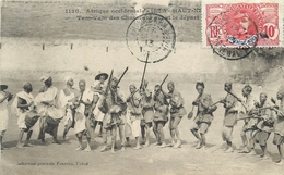 SOUDAN - TAM TAM DES CHASSEURS AVANT LE DEPART-  CPA ETHNIQUE - HAUT NIGER - CIRCULEE EN 1913 - TRES BEL ETAT - Soudan