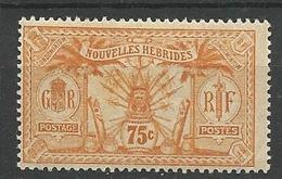 NOUVELLE HEBRIDE N° 45 NEUF* TRACE DE CHARNIERE TB / MH - Légende Française