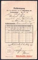 Germany Deutsches Reich Wiessnach 1933 / Bescheinigung / Certificate, Confirmation - Historische Documenten