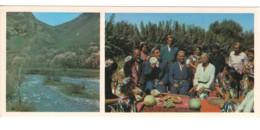 Soviet Uzbekistan Fergana Folk Singer Mountain River PC Long Format - Ouzbékistan