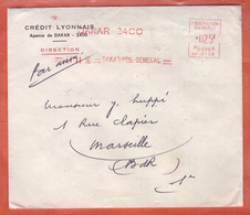 MALI OLITERATION MECANIQUE SUR LETTRE DE 1960 DE DAKAR POUR MARSEILLE FRANCE - Mali (1959-...)
