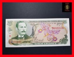 COSTA RICA 5 Colones 4.10.1989 P. 236 D   UNC - Costa Rica