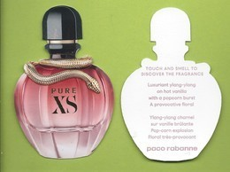 PACO RABANNE *  PURE XS * REPLICA * GLACE * V/R - Perfume Cards