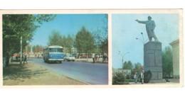 Soviet Uzbekistan Fergana Lenin Monument Bus PC Long Format - Ouzbékistan