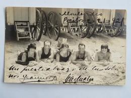 C.P.A. : Uruguay : MONTEVIDEO, Pocitos, Cabinas, Bañistas, En 1921 - Uruguay