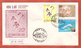 VIETNAM DU SUD FDC ORCHIDEES DE 1974 DE SAIGON - Vietnam