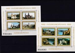 Europa Cept, Mitläufer, Rumänien, Bl. 186/87** (K 3515) - Europa-CEPT