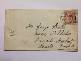 GB - 1881 Cover Forfar Scotland To Leeds - 1840-1901 (Victoria)