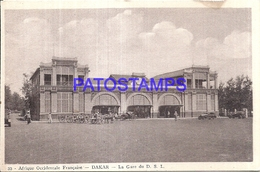 104701 AFRICA OCCIDENTAL FRANCESA DAKAR SENEGAL STATION TRAIN POSTAL POSTCARD - Cartes Postales