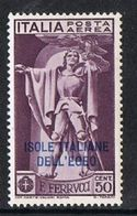 Dodecanese Islands SG40 1930 Ferrucci 50c Mounted Mint [9/10602/7D] - Dodecaneso