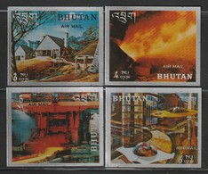 BHOUTAN - PA N°50/53 ** (1969) Histoire De L'acier - Bhoutan
