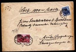 A5757) DR Infla Wertbrief Bremen 21.4.21 N. Aue MiF Mi.115b Ua. - Briefe U. Dokumente