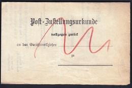 Germany Deutsches Reich Arnstadt 1895 / Post Bustellungsurkunde / Post Delivery Document - Allemagne