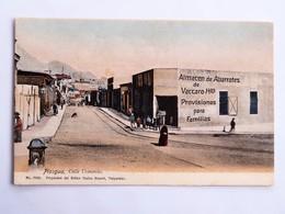 C.P.A. : Chili : PISAGUA, Calle Comercio, Almacen De Abarrotes De Vaccaro - Chili