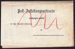Germany Deutsches Reich Arnstadt 1896 / Post Bustellungsurkunde / Post Delivery Document - Allemagne