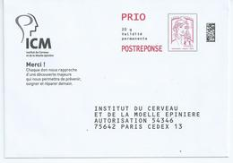 Entiers Postaux : Enveloppe Réponse Type Ciappa -Kavena PRIO Datamatrix ICM 16P355 ** - Entiers Postaux