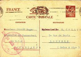 MAROC CARTES INTERZONE IRIS UTILISEE A CASABLANCA DEPOT DES ISOLES METROPOLITAINS - Maroc (1891-1956)