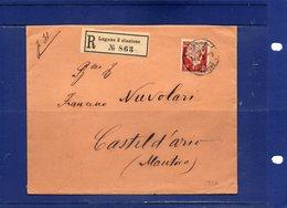 ##(ROYBOX1)-Postal History-Switzerland 1922-Registered Cover From Lugano3 Stazione To Castel D'Ario, Frazionario 35-21 - Svizzera