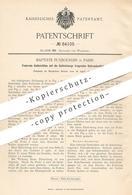 Original Patent - Baptiste Puybourdin , Paris , Frankreich , 1895 , Federnde Sattelstütze   Fahrrad - Sattel   Fahrräder - Historische Dokumente