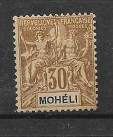 MOHELI N° 8 NEUF * - COTE = 21.00 € - Moheli (1906-1912)