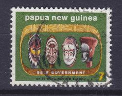 Papua New Guinea 1973 Mi. 268  7c. Selbstverwaltung Holzgeschnitzte Köpfe Self Government - Papua-Neuguinea
