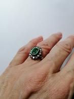 Anello Con Smeraldo E Diamanti Bruniti - Bagues