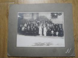Photo Originale Sur Carton épais Par EXERTIER RUMILLY Haute Savoie Double Mariage Beau Format - Photographs