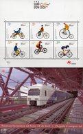 Zugbrücke 1999 Portugal Blocks 154+161 ** 16€ Radsport 2000 Tejo-Brücke Bloque Bridge Train Blocs Sheets Bf Railway - Verkehr & Transport