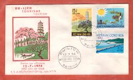 VIETNAM DU SUD FDC TOURISME DE 1974 DE SAIGON - Vietnam