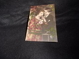 """Fantaisie . Couples.Carte """" échantillon """" De Vendeur De Cartes Postales . Voir 2 Scans . - Couples"""