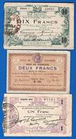 Fourmie  Aisne  02   3  Billets  1914/8 - Bons & Nécessité