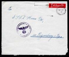 A5759) Böhmen & Mähren Feldpost Brief FP-Nr.L01926 16.9.40 Dienstpost-Masch-Stpl. B - Briefe U. Dokumente