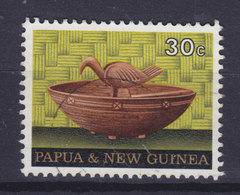 Papua New Guinea 1970 Mi. 192  30c. Kunsthandwerk Holzschale Von Manus-Insel Mit Bird Vogel Oiseau - Papouasie-Nouvelle-Guinée