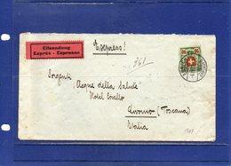 ##(ROYBOX1)-Postal History-Switzerland 1927-Express Cover From  Zurich  To  Livorno - Italy - Svizzera