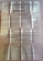 Germany  / Hamburger Zeitung / Extra Ausgabe - Riviste: Abbonamenti