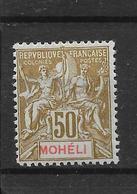 MOHELI N° 12 NEUF * - COTE = 27.00 € - Mohéli (1906-1912)