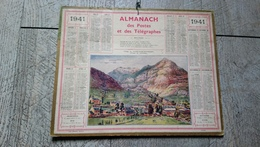 Calendrier 1941 Almanach Des Postes Et Des Télégraphes Village De Notre Dame Des Neiges Gavarnie Pyrénées - Calendriers