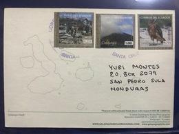 Galpagos Islands , Santa Cruz , Circulated Postcards, Eagle - Equateur