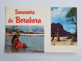 C.P.A. : Polynésie : Souvenirs De BORABORA, En 1968, Vahiné - Polynésie Française