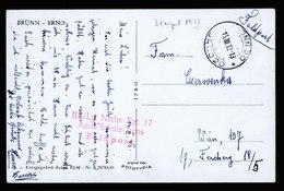A5760) Böhmen & Mähren Feldpost Karte Brünn 15.3.42 Fehleinstellung Jahr - Briefe U. Dokumente
